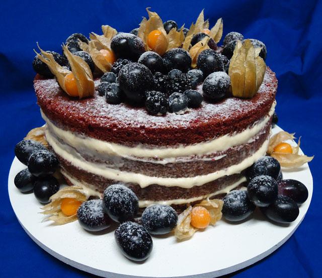 Bolo Naked Cake Red Velvet