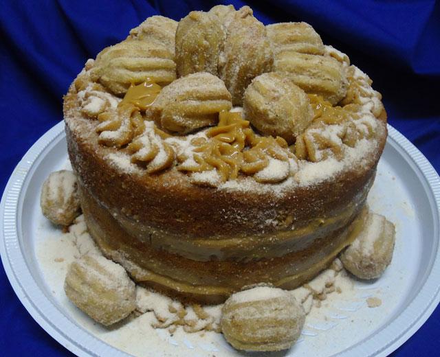 Bolo Naked Cake de Churros
