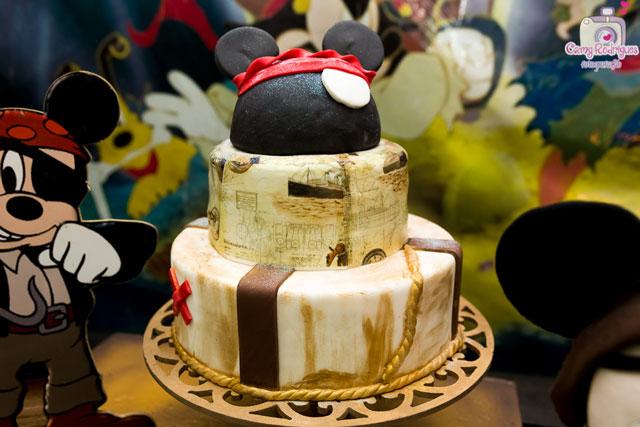 Bolo Mickey Pirata de Pasta Americana