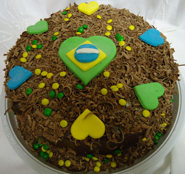 Bolo Temático Copa do Mundo 2014