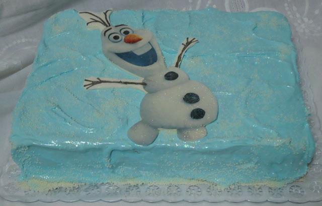 Bolo Frozen - Olaf