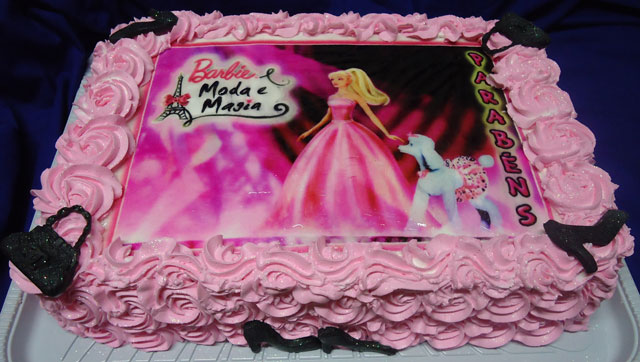 Bolo Barbie Moda e Magia