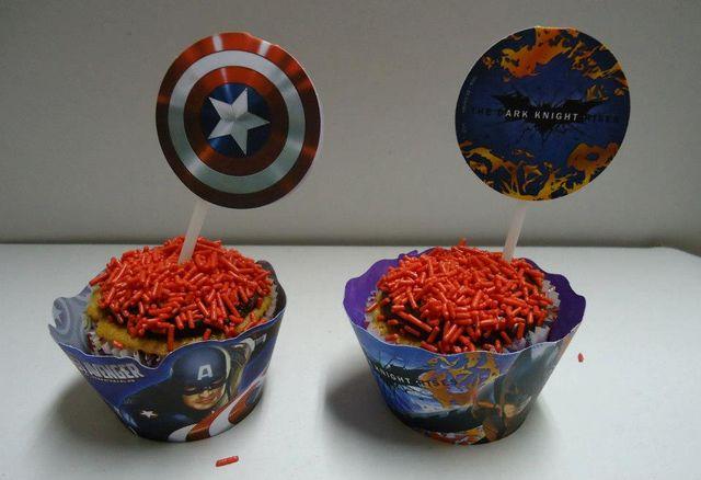 Cupcakes dos Vingadores - Avengers