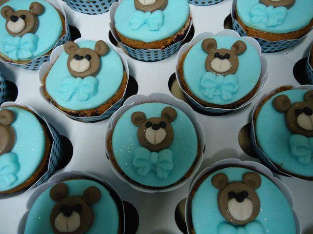 Cupcakes Ursinho Maternidade e Aniversário