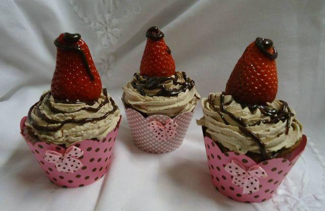 Cupcakes com Morango