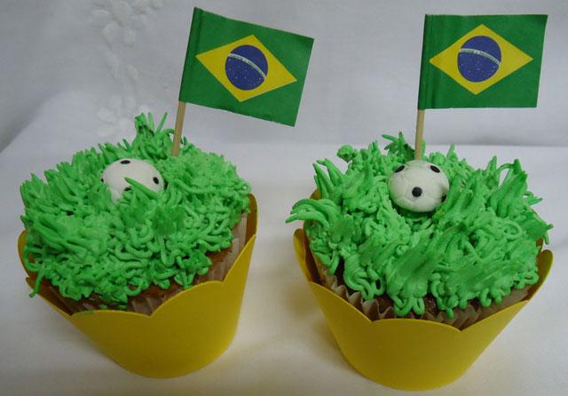 Cupcakes Copa do Mundo 2014