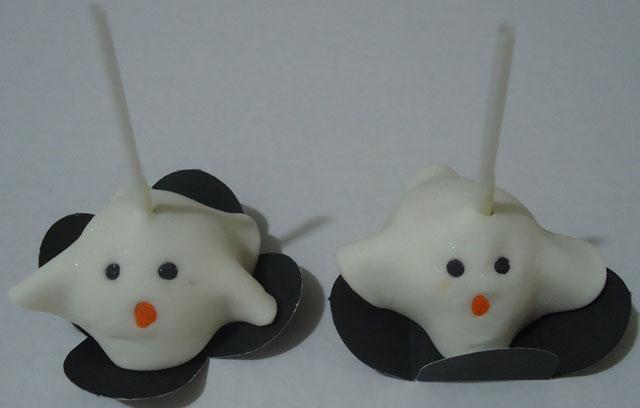 Cake Pops Fantasminha Halloween