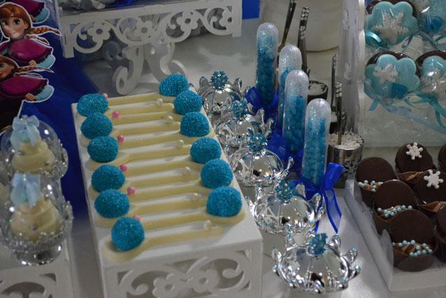 Doces Festa Frozen - Brigadeiro na Colher