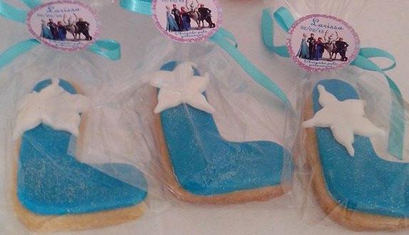Lembrancinha de Biscoito Amanteigado – Tema Festa Frozen
