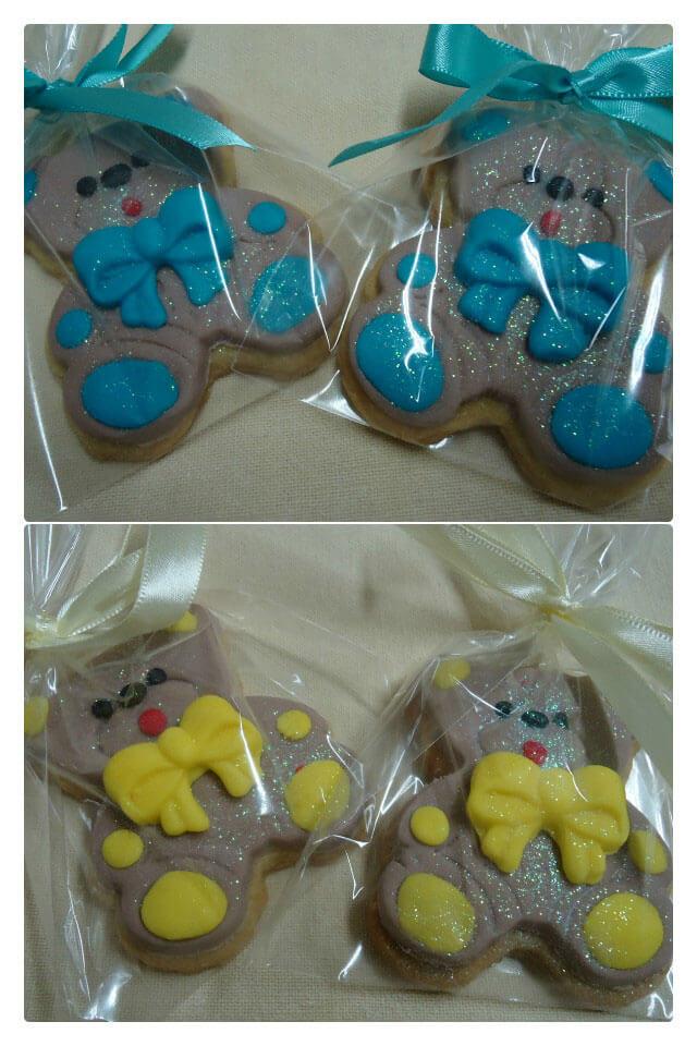 Biscoito Amanteigado Decorado em Formato de Ursinho