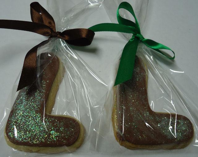 Lembrancinha de Biscoito Amanteigado Coberto com Chocolate