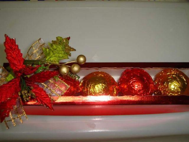 Bolas de Natal de Trufas