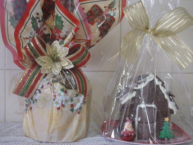 Panetone e Pão de Mel em Formato de Casa - Natal